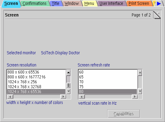 OS/2 video configuration